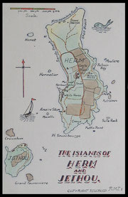 A Map of Herm Island and Jethou.