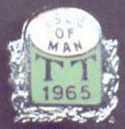 The Isle of Man 1965 TT Badge.