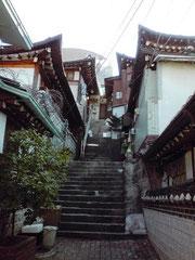 ソウルの古い町並み