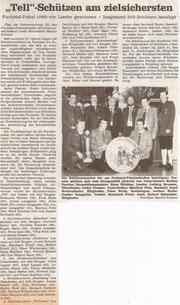 28. Fuchstalpokalschießen 1989 in Unterdießen