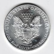 Investieren in das Edelmetall Silber American Eagle 1 Unze (Vorderseite)