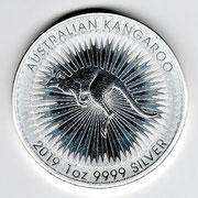 Investieren in das Edelmetall Silber Känguru 1 Unze (Rückseite)