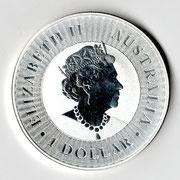 Investieren in das Edelmetall Silber Känguru 1 Unze (Vorderseite)