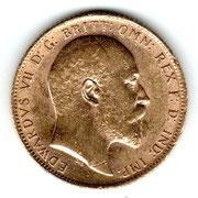 Investieren in das Edelmetall Gold Sovereign Edward VII (Vorderseite)