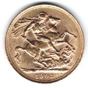 Investieren in das Edelmetall Gold Sovereign Edward VII (Rückseite)