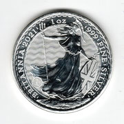 Investieren in das Edelmetall Silber Britannia  1 Unze (Rückseite)