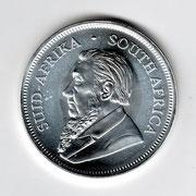 Investieren in das Edelmetall Silber Krügerrand 1 Unze (Vorderseite)