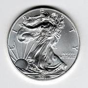 Investieren in das Edelmetall Silber American Eagle 1 Unze (Rückseite)
