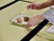 和菓子の頂き方