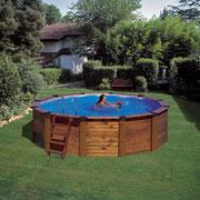 piscina desmontable madera