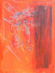 Gesicht in Orange, Mischtechnik auf Leinwand, 60 x 80 cm, 2006