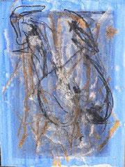 Liebe 2, Mischtechnik auf Holz, 70 x 100 cm, 2007