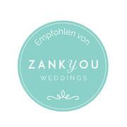 Hochzeit zank you