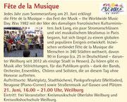 Mittelhessischer Kultursommer Fête in Weilburg (Variante S. 18) im Programmheft