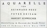margrit schweicher. aquarelle trier. 1949