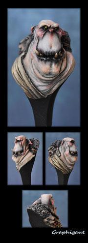 Buste d'Ork albinos par Graphigaut