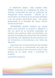 """Proyecto Social """"Una ciudad para todos"""""""