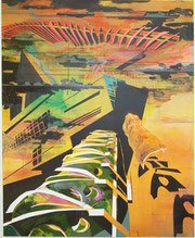 Minyoung Park Fragile Utopien 2011 Acryl/LW 150x115cm