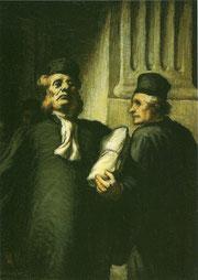 """Omaggio a Daumier.Olio. """"Falso d'autore"""".Stanza degli stivali."""