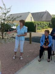 Marylène Fillâtre, maire-conseillère générale de Juvigny-le-Tertre