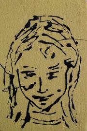Cristiana  - smalto acrilico su polistirene - cm 20 x 30