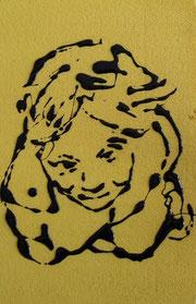 Silvia  - smalto acrilico su polistirene - cm 20 x 30
