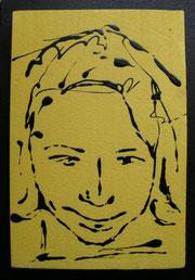 Silvio  - smalto acrilico su polistirene - cm 20 x 30
