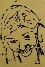Benedetta - smalto acrilico su polistirene - cm 20 x 30