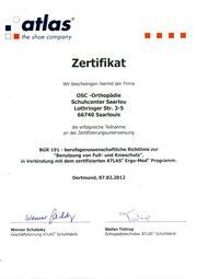Atlas Arbeitsschuhe Zertifikat
