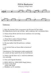 Schlagzeugnoten Fill-Ins Übungen PDF