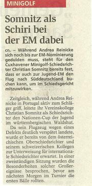 Artikel aus den Cuxhavener Nachrichten vom 11.06.2009