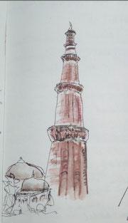 Qutab Minar - Minarett in Dehli