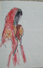 Inderin im bunten Sari
