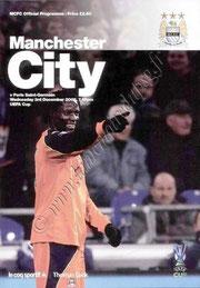 2008-12-03  Manchester City-PSG (4ème journée Poule UEFA, Programme officiel)