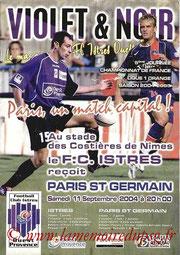 Programme  Istres-PSG  2004-05