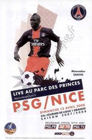 2008-04-13  PSG-Nice (33ème L1, Officiel N°119)