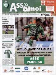 2008-09-21  Saint Etienne-PSG (6ème L1, Asse et moi N°3)