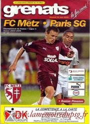 Programme  Metz-PSG  2004-05