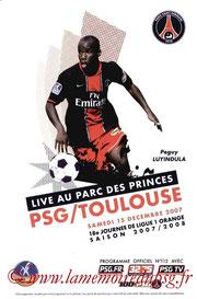 Programme  PSG-Toulouse  2007-08
