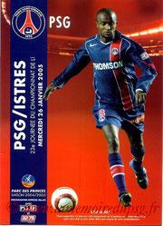 Programme  PSG-Istres  2004-05