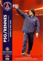 Programme  PSG-Rennes  2004-05