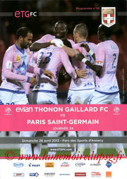 Programme  Evian-PSG  2012-13