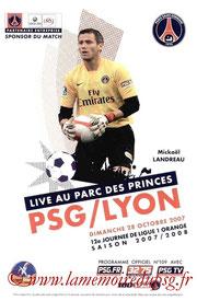 Programme  PSG-Lyon  2007-08