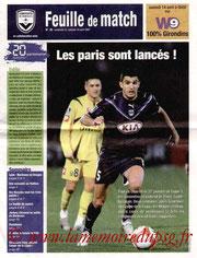 Programme  Bordeaux-PSG  2006-07