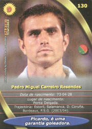 N° 130 - Pedro Miguel PAULETA (Verso)