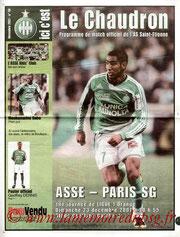 Programme  Saint Etienne-PSG  2007-08