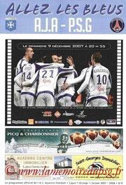 Programme  Auxerre-PSG  2007-08