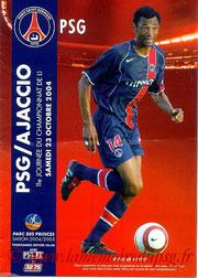Programme  PSG-Ajaccio  2004-05