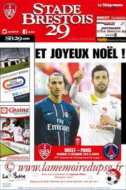 Programme  Brest-PSG  2012-13