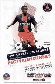 2008-03-15  PSG-Valenciennes (29ème L1, Officiel N°117)